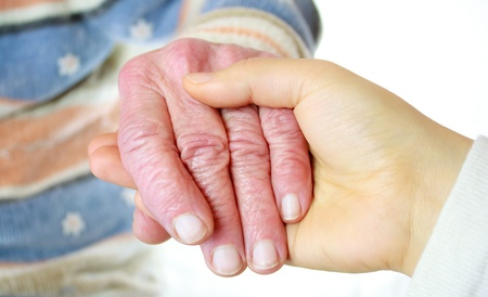 Senior and Young Women's Hands Stock Photo - 10486020