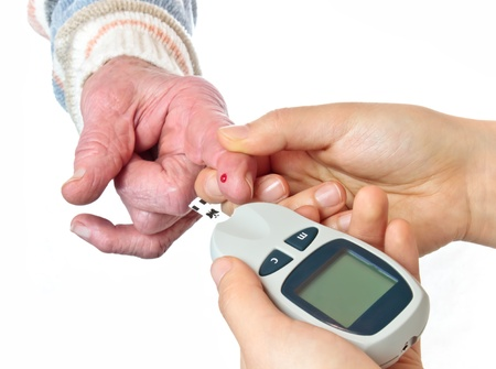 glucometer: blood sugar test