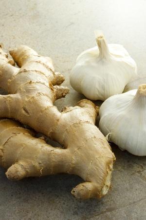 Ginger and garlic Фото со стока