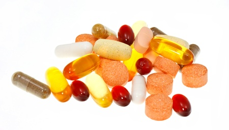 heap up: Supplements Stock Photo
