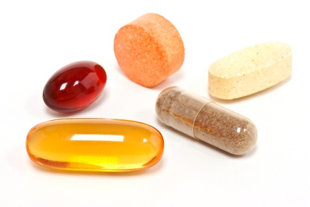 vitamins pills: Five Supplements