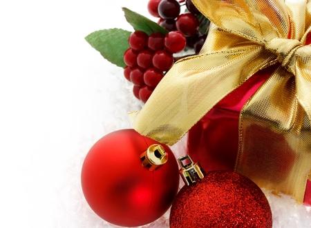 Red Christmas gift Stock Photo - 11028577