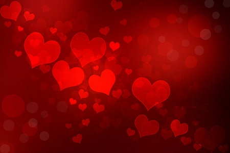 Valentine grunge heart shaped lights background photo