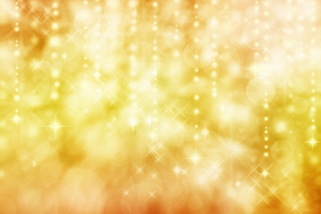 gold textures: Golden yellow colored image of abstract lights background