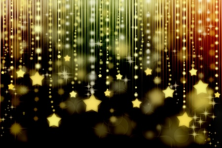 textures: Stars on black abstract background with bokeh lights