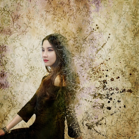 Young Female with Abstract Background photo