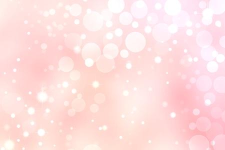 핑크 bokeh 배경, 흰색 원과 별 조명