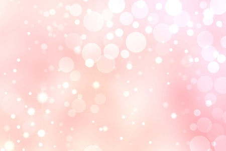 Pink Bokeh Background, White Circle and Star Lights  Фото со стока
