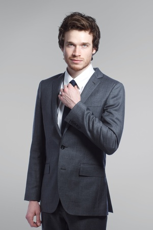 Potrait of a Young Stylish Business Man Stock Photo