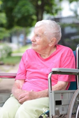 home health care: Senior Woman in a Wheelchair