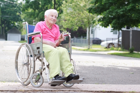Senior Woman in a Wheelchair photo