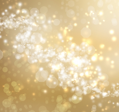 Gold Colored Abstract Lights Background  Stock Photo - 15870471