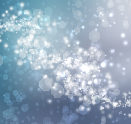 Blue Colored Abstract Lights Background Stock Photo - 16386005