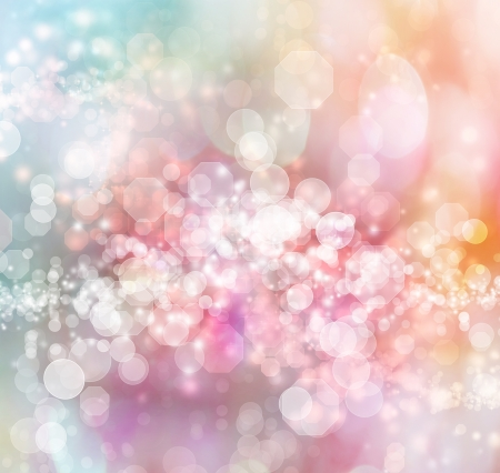 Blue - Pink - Orange Colored Abstract Lights Background