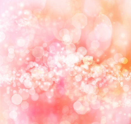 Pink - Orange Colored Abstract Lights Background Stock Photo - 16485273