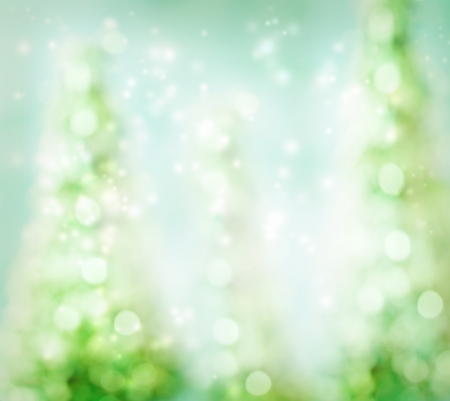 winter tree: Glowing Green Abstract Christmas Tree Background Stock Photo