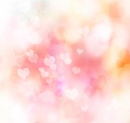 발렌타인 하트 모양의 조명 배경