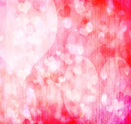 Valentine grunge heart shaped lights background Stock Photo - 16816253