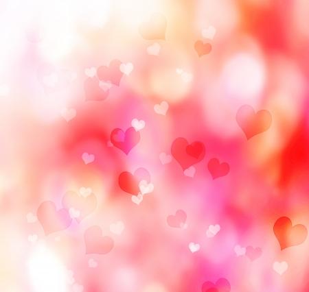 Valentine heart shaped lights background Stock Photo - 17089949
