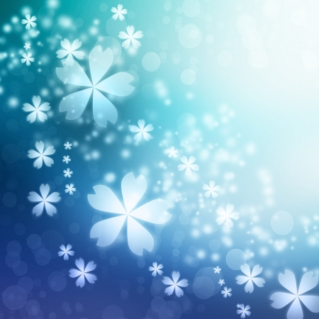 Blue Gradient Cherry blossoms background