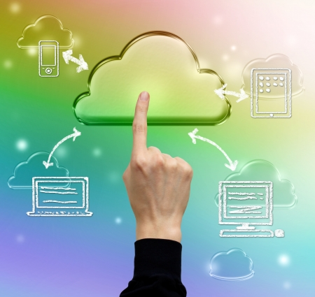 Cloud computing, technology connectivity concept Stock Photo - 17477465