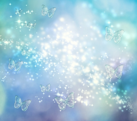 Bright butterfly blue pastel lights background  photo