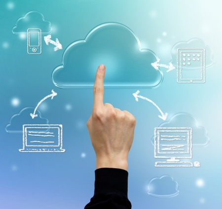 Cloud computing, technology connectivity concept photo