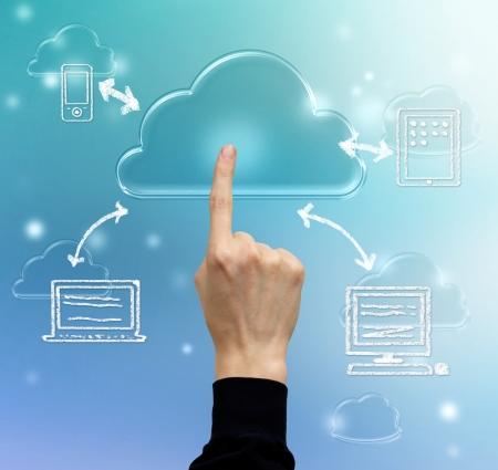 Cloud computing, technology connectivity concept Stok Fotoğraf