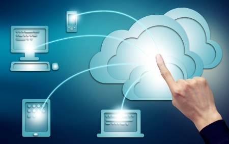 Cloud computing, technology connectivity concept Stock Photo - 18022927