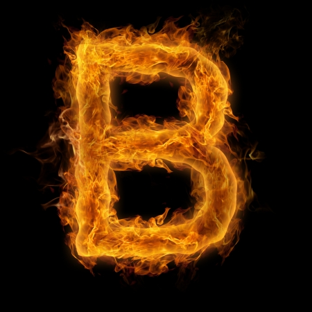 uppercase: Fiery uppercase letter B