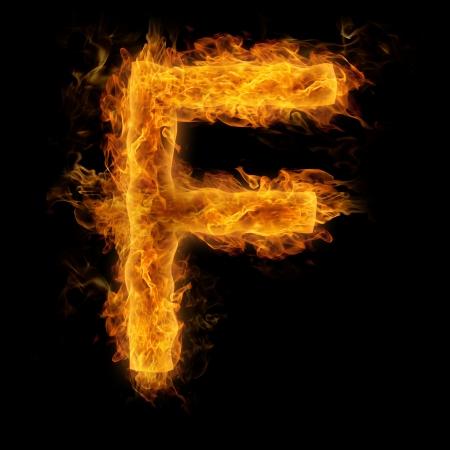 uppercase: Fiery uppercase letter F