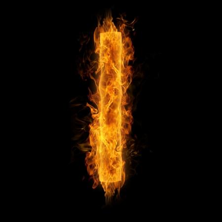 uppercase: Fiery uppercase letter I
