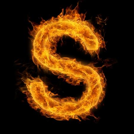 letter: Fiery uppercase letter S