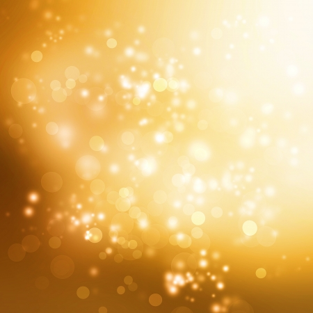 Abstract Lights on Gold Colored Background Stock Photo - 18534094