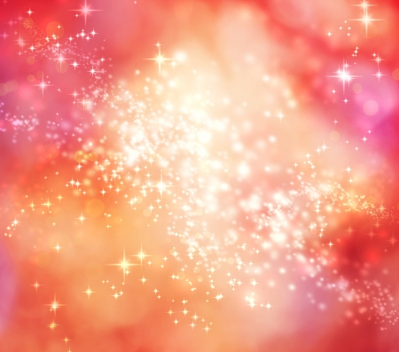 Abstract Lights on Pink and Red Colored Background Stock Photo - 18534097