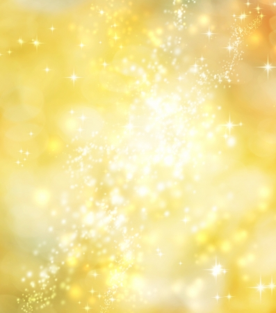 Abstract Lights on Yellow Gold Colored Background  Stock Photo - 18792638