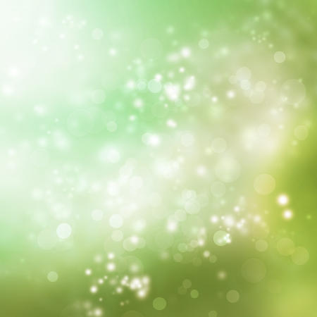Abstract Lights on Green Colored Background Stock Photo - 19142236