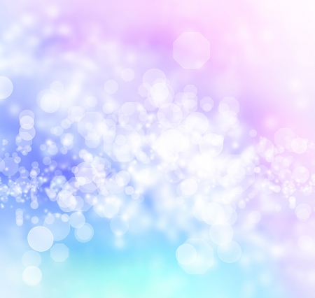 Blue, Purple, Pink Colored Abstract octagon shaped bokeh Lights Background  Stock Photo - 19142240