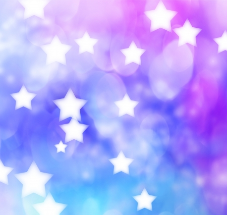 boke: Abstract Blue, Purple, Star Lights Background  Stock Photo