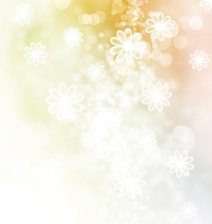 Bloesems en bokeh pastelkleurillustratie