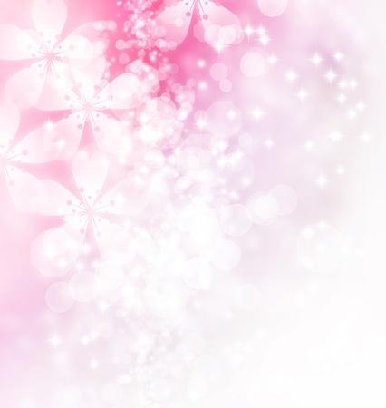 花やボケ味のパステル カラー イラスト 写真素材