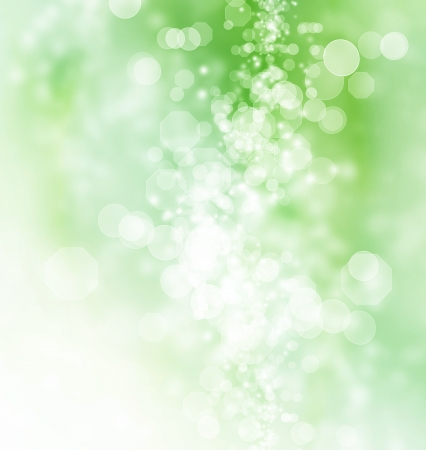 Green colored abstract octagon shaped bokeh Lights Background