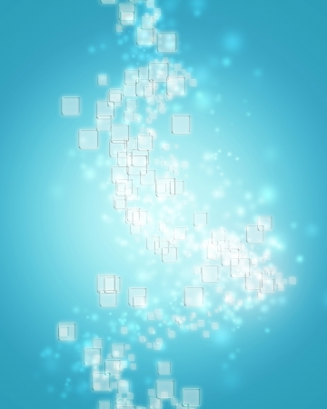 Small clear square icons on ice blue background Stock Photo - 19942887