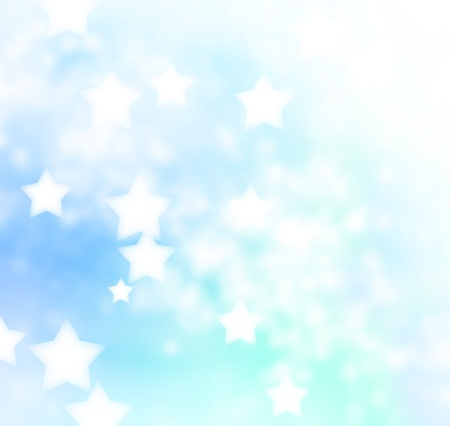 Abstract Blue Star Lights Background  Stock Photo - 19942929