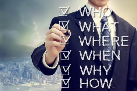 人の実業家何がなぜ、どのようにするときは都市の上