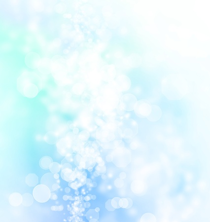 boke: Blue Colored Abstract Lights Background