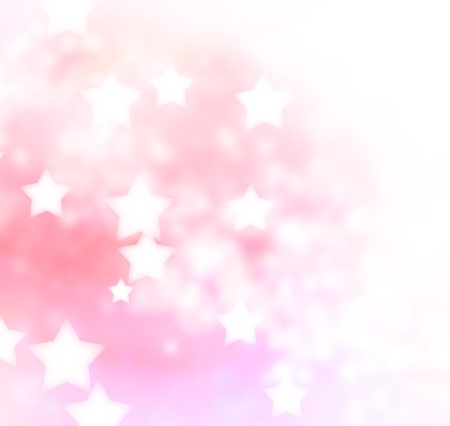 Abstract pink, peach star lights background  Stock Photo - 20437102