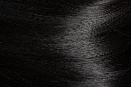 Beautiful healthy black hair - close up Foto de archivo