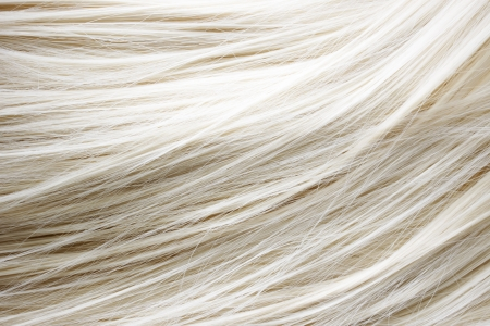 hair texture: Healthy blonde hair - close up image Stock Photo