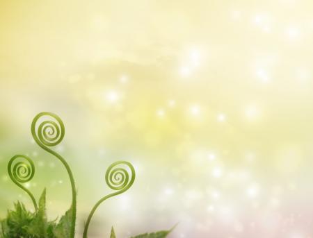 Plant tendrils on fantasy pastel